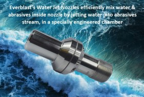 water jet nozzle for wet blasting